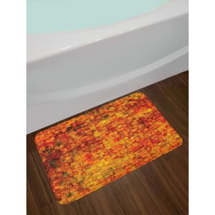Vintage Burnt Orange Bath Rug