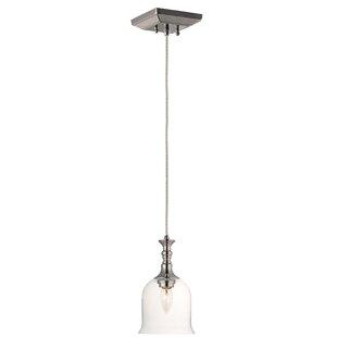 Minnich 1-Light Bell Pendant by House of Hampton