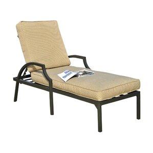 prescott chaise lounge with cushion