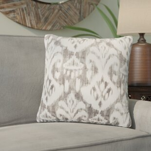 Marisa Ikat Outdoor Throw Pillow by Bungalow Rose Amazing