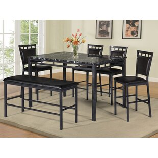 6 Piece Counter Height Dining Set by Best..