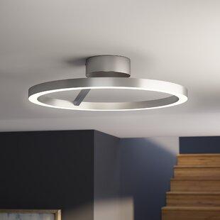 Roder 1-Light LED Semi-Flush Mount by Orren Ellis
