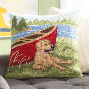 Boozer Lab Canoe Wool Throw Pillow