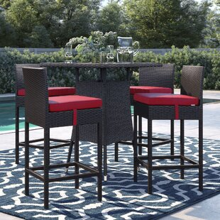 Brentwood 5 Piece Frame Bar Height Dining Set by Sol 72 Outdoor Discount