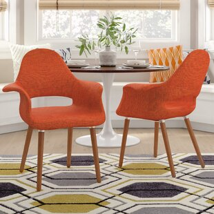 Kansas City Upholstered Dining Chair (Set of 2) Langley Street