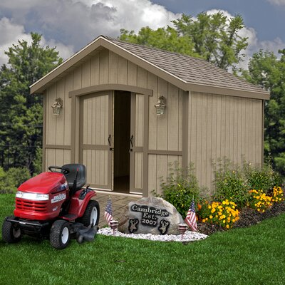 Cambridge 10 ft. W Solid Wood Storage Shed Best Barns Size: 110 H x 120 W x 240 D