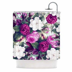 'Exotic Flora' Painting Single Shower Curtain