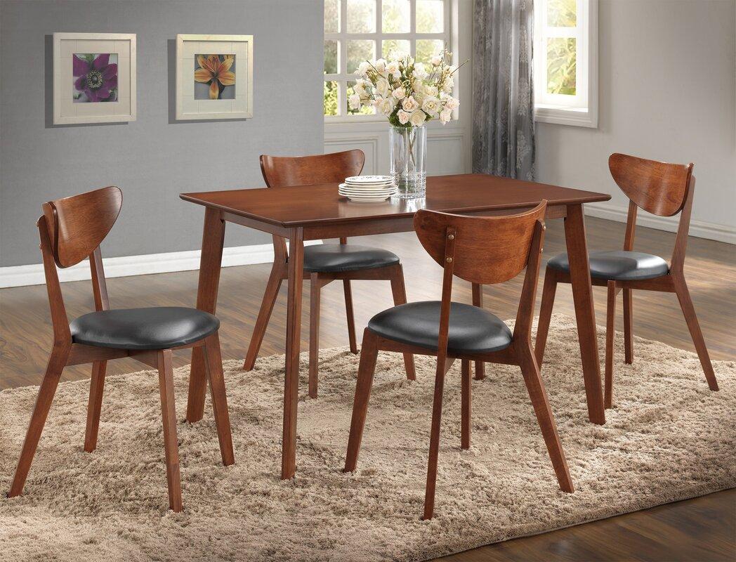 roundhill furniture sacramento 5 piece dining set u0026 reviews wayfair