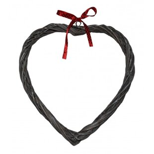 Preserved Heart 26.5cm Wicker Wreath By The Seasonal Aisle