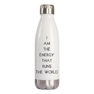 Cress I Am The Energy That Runs The World Water Bottle