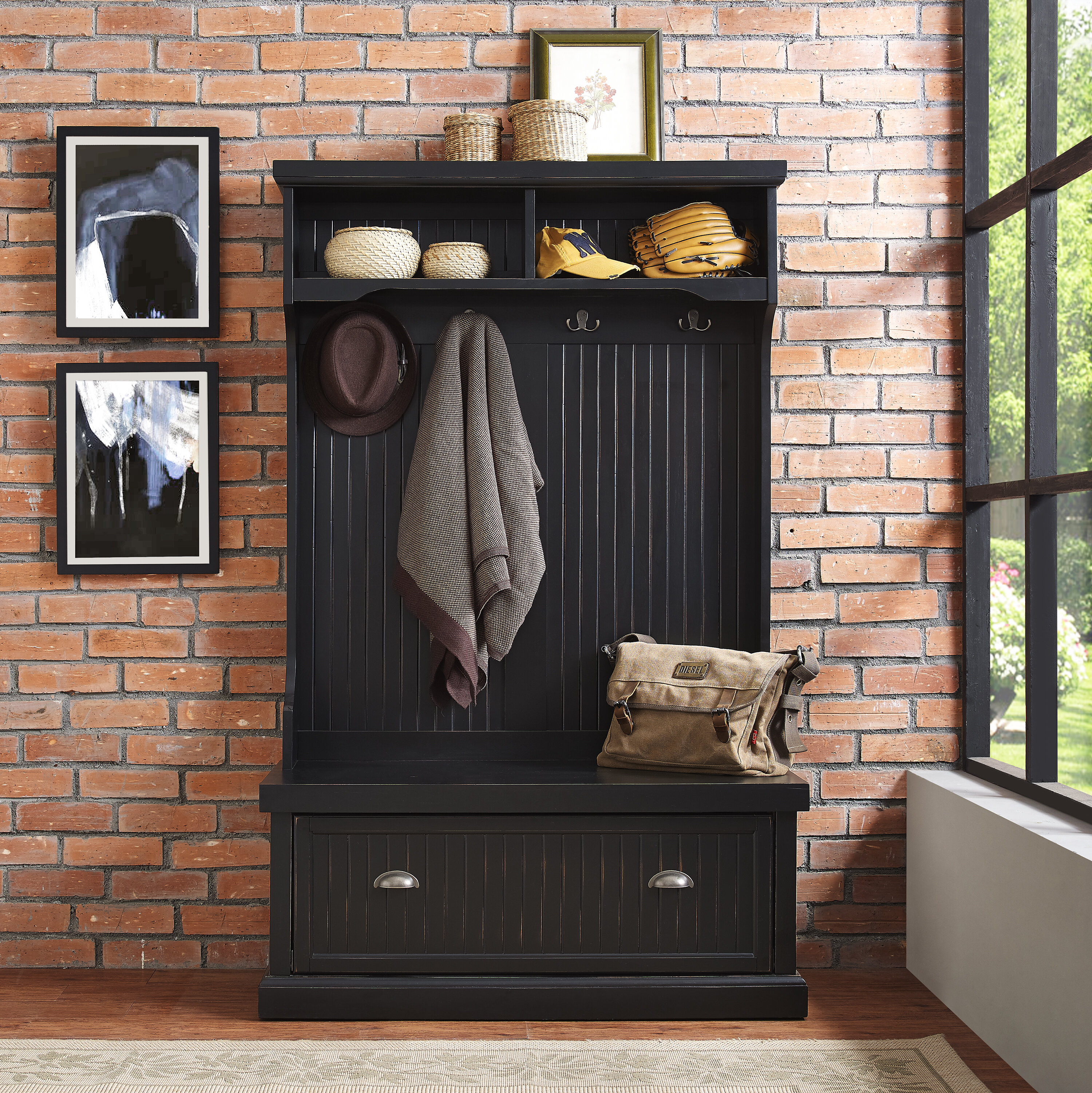 Beachcrest Home Halstead Hall Tree Amp Reviews Wayfair