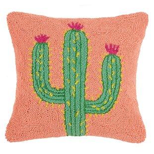 Bruening Cactus and Kilim Wool Throw Pillow