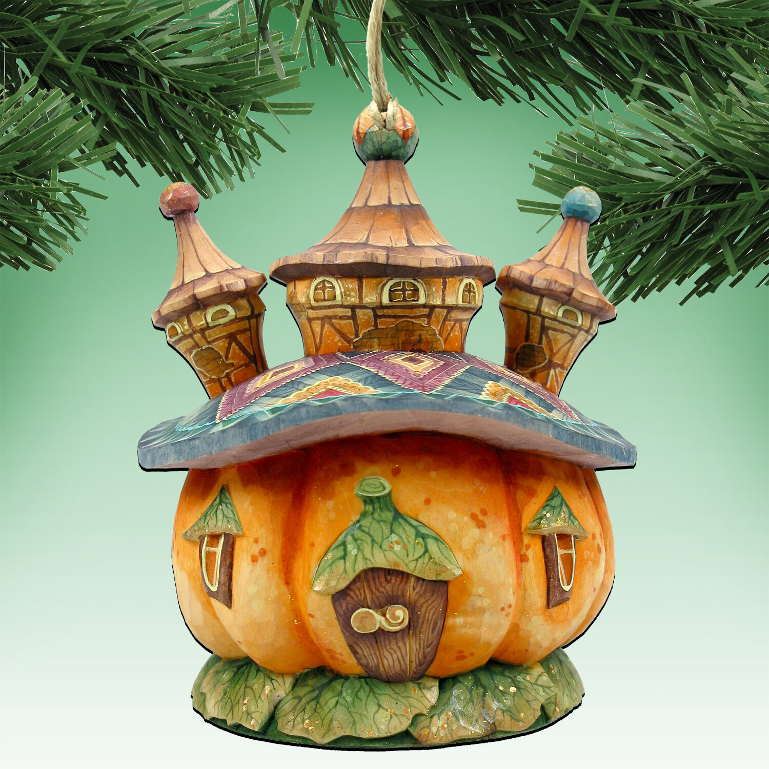 The Holiday Aisle Halloween Pumpkin Dome Hanging Shaped Wood Ornament Wayfair