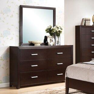 Wen 6 Drawer Double Dresser with Mirror by Latitude Run