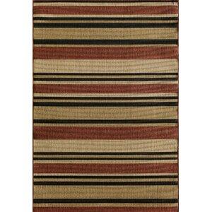 Greenbaum Stripe Red/Beige/Black Indoor/Outdoor Area Rug