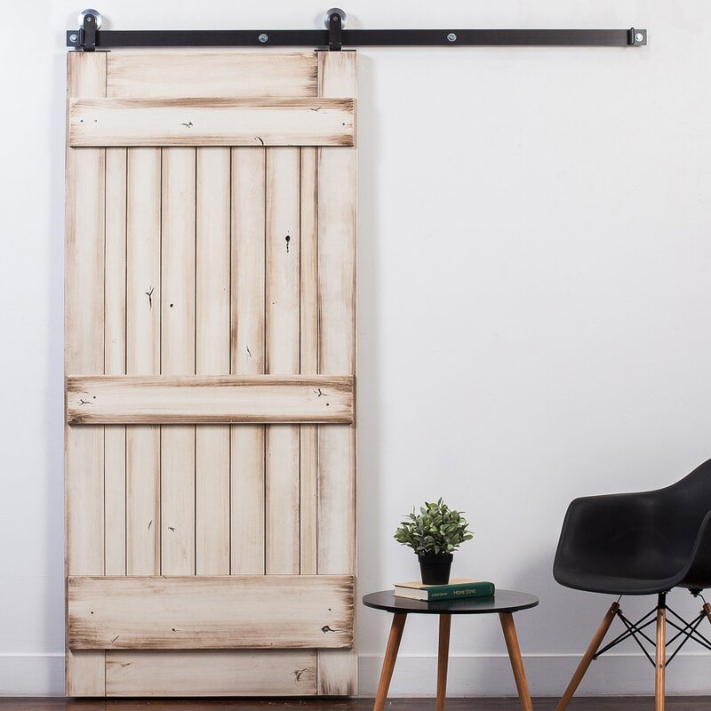 Ranch Wood 1-Panel Stained Sliding Barn Interior Door & RusticaHardware Ranch Wood 1-Panel Stained Sliding Barn Interior ... pezcame.com