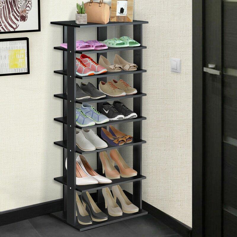 Rebrilliant 14 Pair Shoe Rack Reviews Wayfair