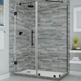 Bromley Frameless 34.38 x 72 Rectangle Hinged Shower Enclosure by Aston