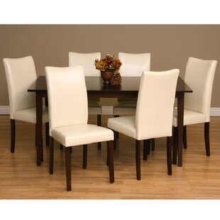 Evendale 7 Piece Solid Wood Dining Set Red Barrel Studio