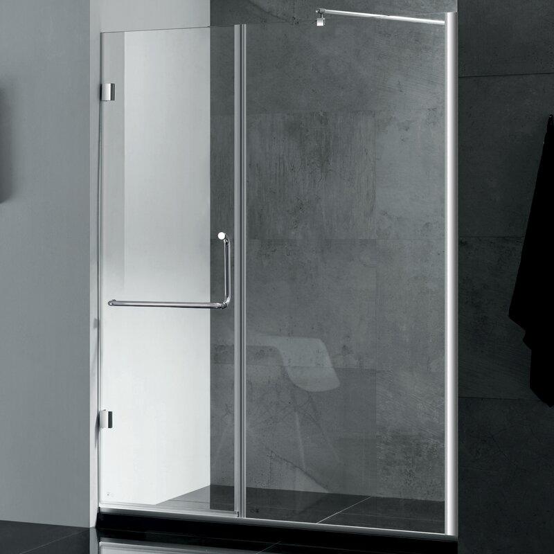 Wet Republic Prima 59\'\' x 72\'\' Hinged Shower Door | Wayfair