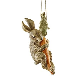 The Carrot Caper Swinging Bunny Rabbit Statue By Design Toscano