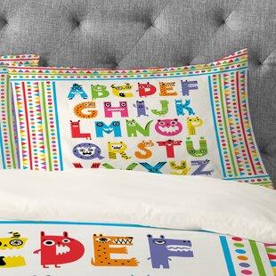 Andi Bird Alphabet Monsters Pillowcase