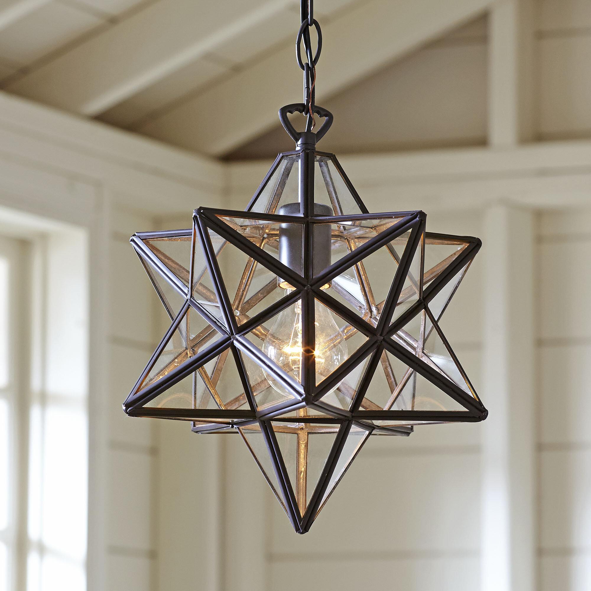 Sture 1 light geometric pendant