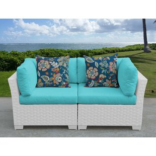 Monaco Outdoor Loveseat With Cushions by TK Classics Amazing