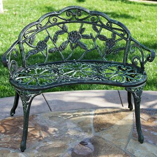 Larue Rose Iron Garden Bench