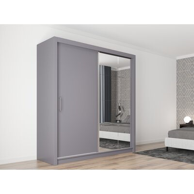 "Dionisio Armoire Brayden Studio Color: Gray, Size: 86"" H x 59"" W x 24"" D"