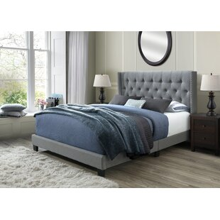 Sedona Gray Velvet Queen Bed Wayfair
