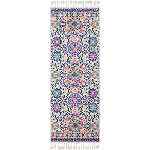 Inexpensive Peregrine Traditional Floral Blue/Pink Area Rug By Mistana