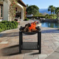 Deals on Red Barrel Studio Madina Iron Wood Burning Fire Pit