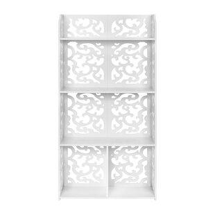 Boulton 4-Tier Modular Cut-Out Wood Plastic Composite Standard Bookcase by House of Hampton