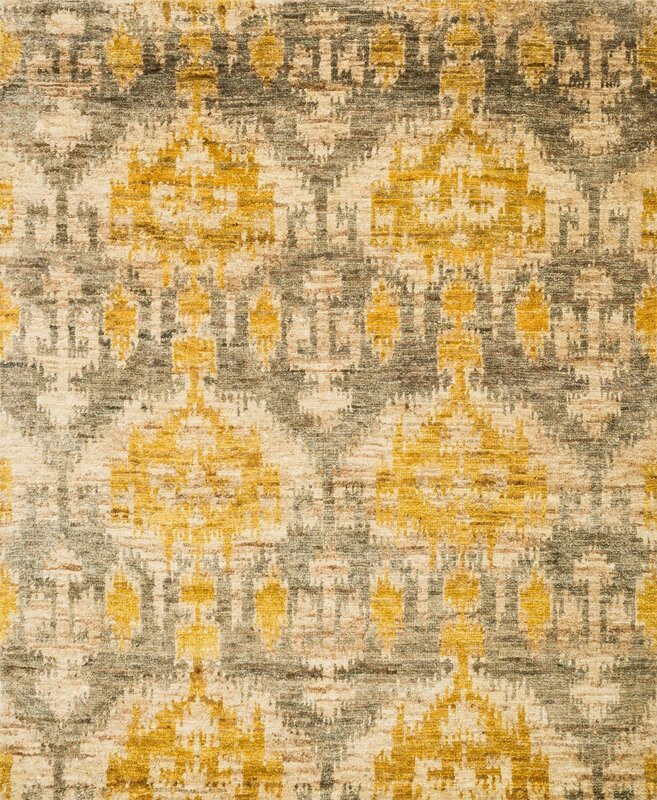 Xavier Hand Knotted Gray/Gold Area Rug