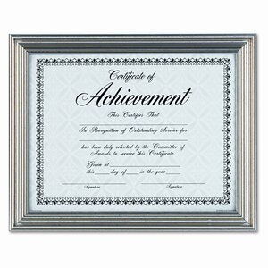 Antique Colored Document Metal Frame with Certificate, 8.5