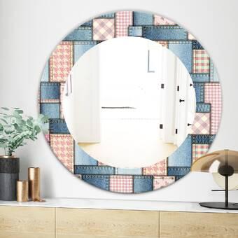 East Urban Home Triple C Circular Geometric Shapes Pattern Modern Frameless Wall Mirror