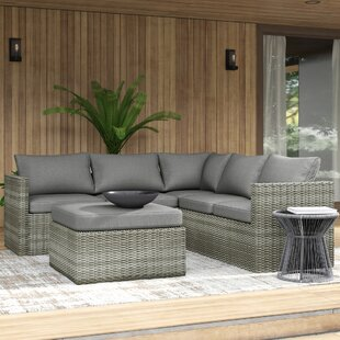 Lorentzen Patio Sectional with Cushions