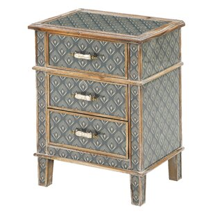 Freya 3 Drawer Bedside Table By Mindy Brownes