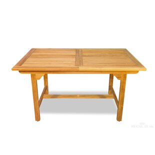 Extendable Solid Wood Dining Table by Regal Teak