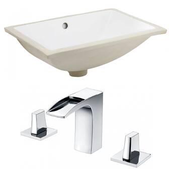 Fresca Parma 33 Pedestal Bathroom Sink With Overflow Wayfair