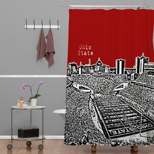 Bird Ave Ohio State Buckeyes Single Shower Curtain