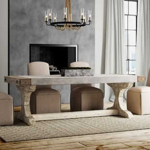 Crisp Concrete and Wood Dining Table