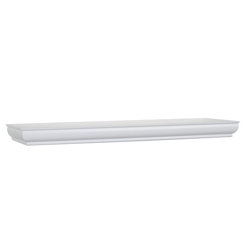 White Floating Wall Shelf alcott hill architectural elements floating wall shelf & reviews
