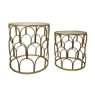 Metal 2 Piece Nesting Tables b..