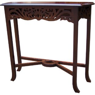Fretwork Carved Console Table By Astoria Grand