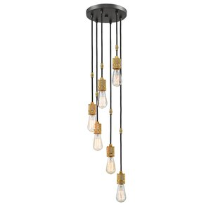 Crepeau 6-Light Cascade Pendant by Williston Forge