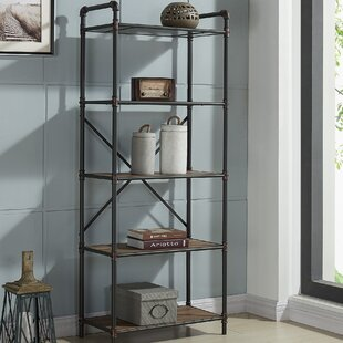 17 Stories 5 Tier Metal Pipe Etagere Bookcase