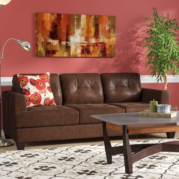 Light Brown Faux Leather Sofa Wayfair
