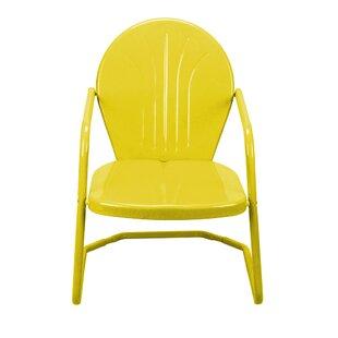 retro metal patio chairs wayfair
